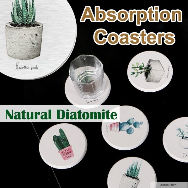 Diatomite Absorption Coasters