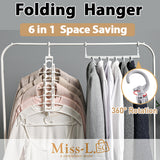 LEN-6 in 1 Space Saving Folding Hanger