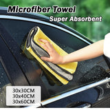 ALIA-Car Wash Microfiber Towel Auto Cleaning Drying Cloth-3pcs