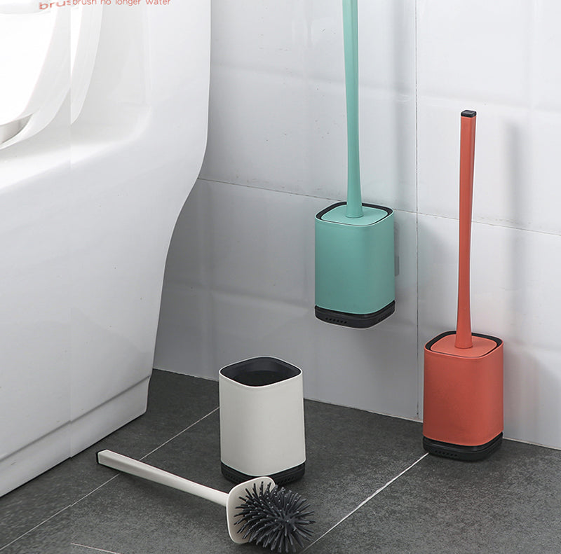 LEKA Wall-Mounted Silicone Toilet Bowl Brush With Holder