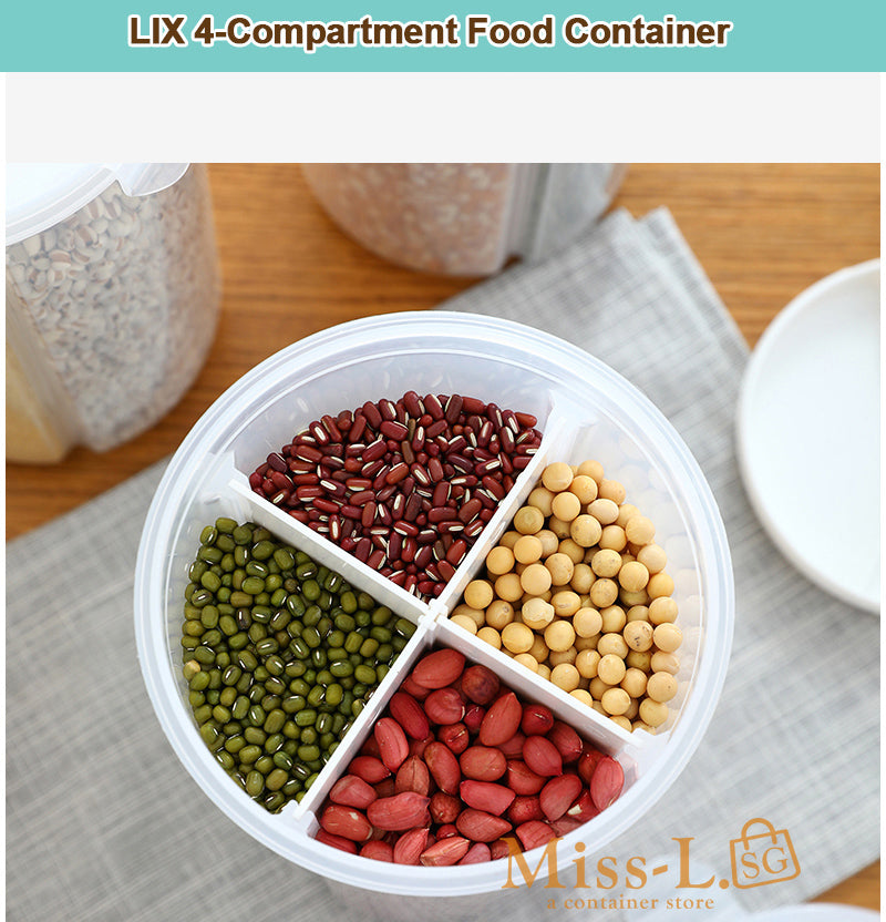 LIX 4-Compartment Food Container