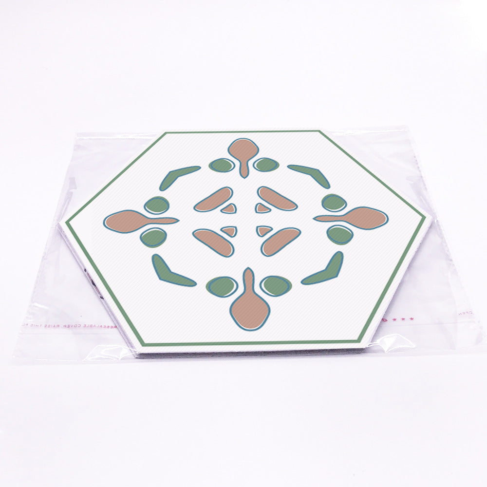 HEXAGONAL GROUND STICKERS-10pcs set