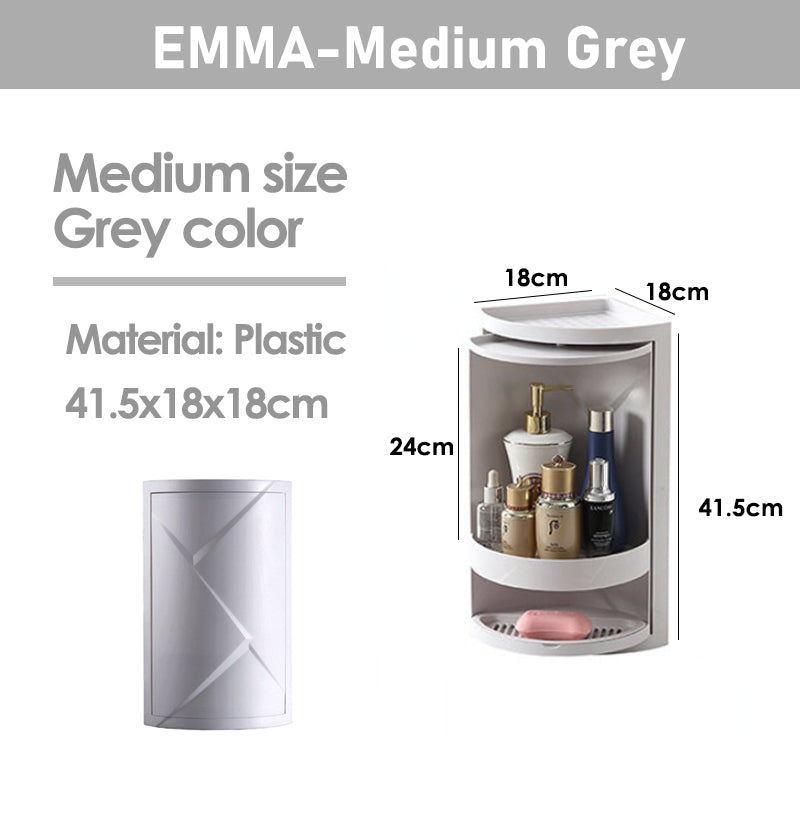 EMMA-360 Rotating Triangle Makeup Organizer