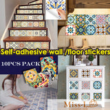 Levon-Self-adhesive wall sticker 10pcs pack/floor stickers