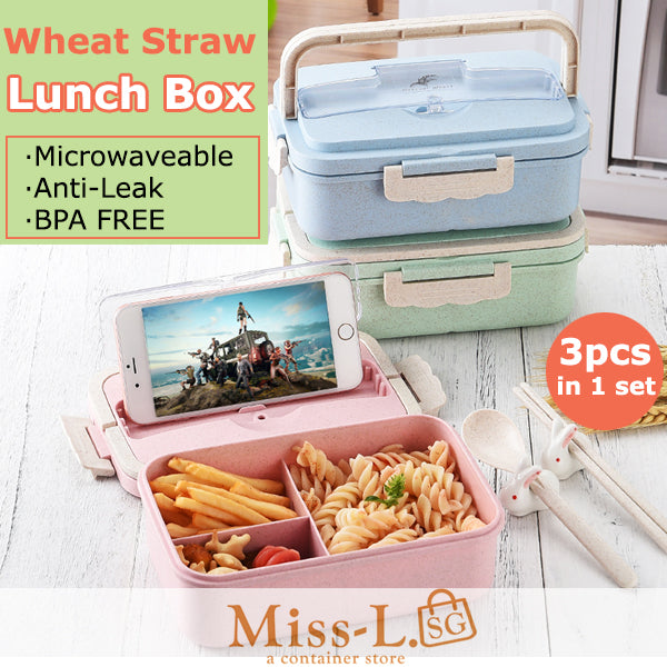LOVA-Wheat Straw Microwaveable Lunch Box Set