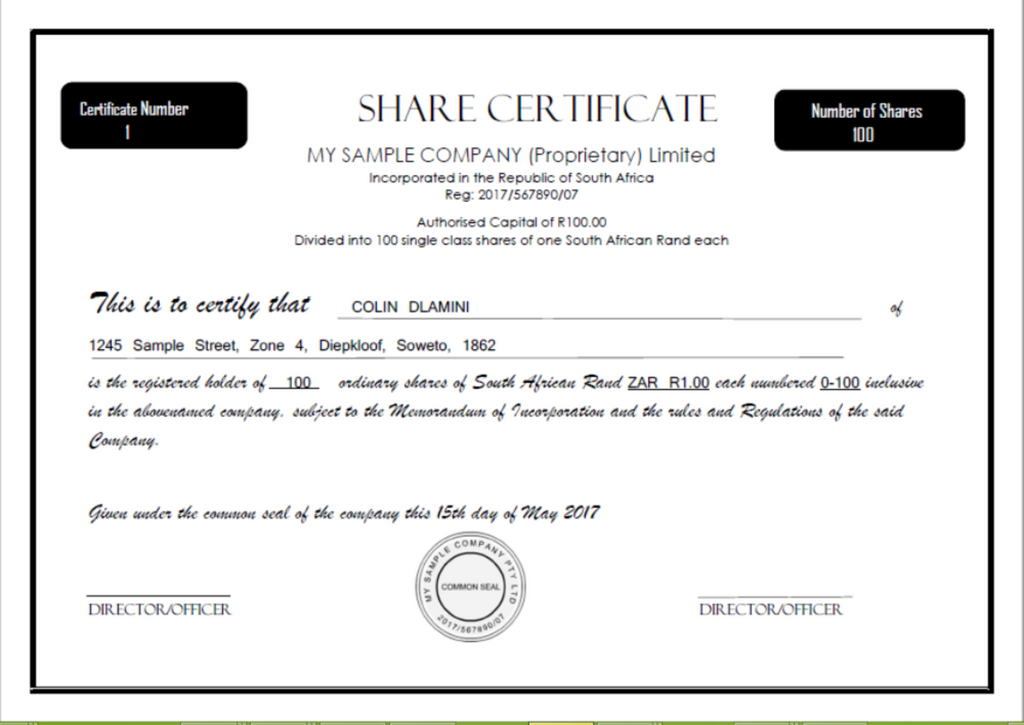 Awesome Shareholder Certificate Sample Gallery Best Resume – Shareholder Certificate Template