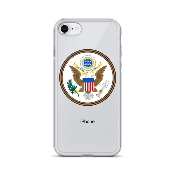 Great Seal of The United States of America iPhone Case (Constitutionally Protected Phone Calls)