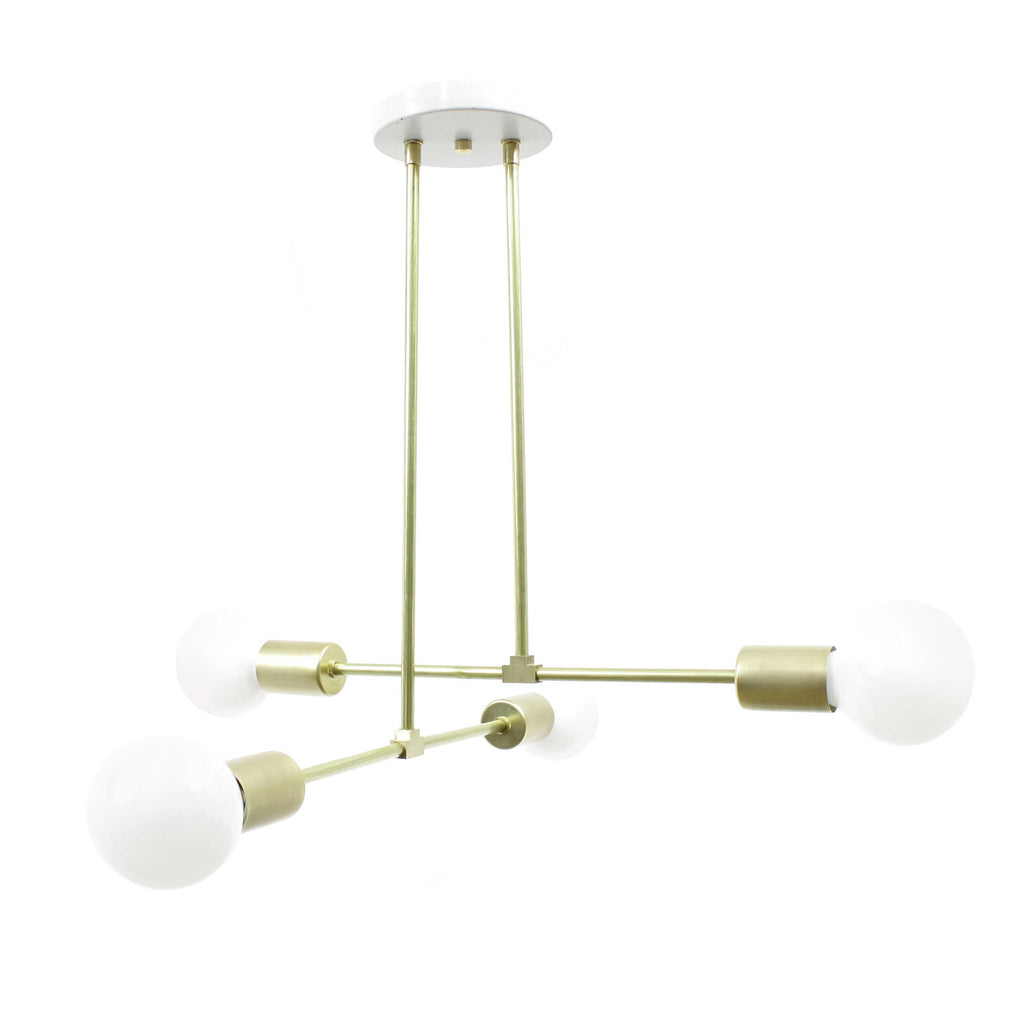 Double barbell hanging light chandelier - gdomm