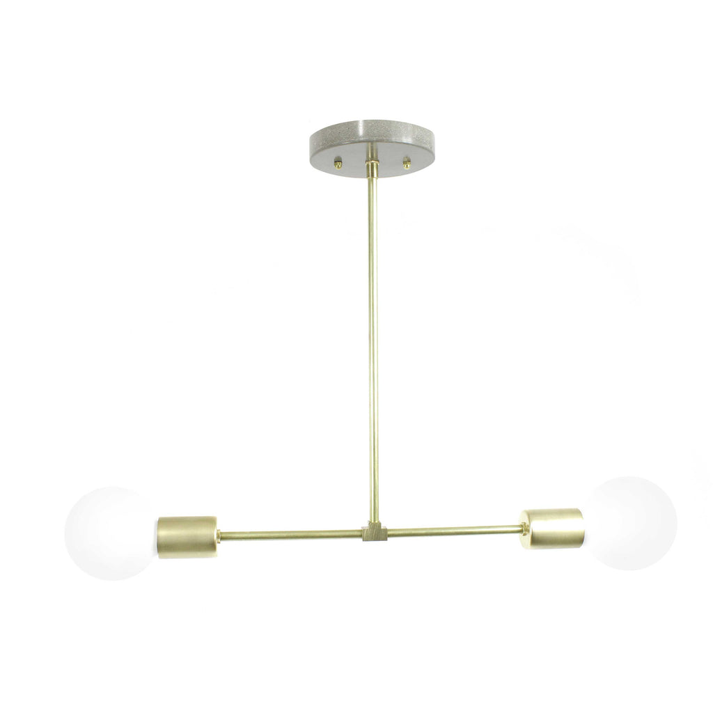 Single barbell brass hanging light chandelier - gdomm