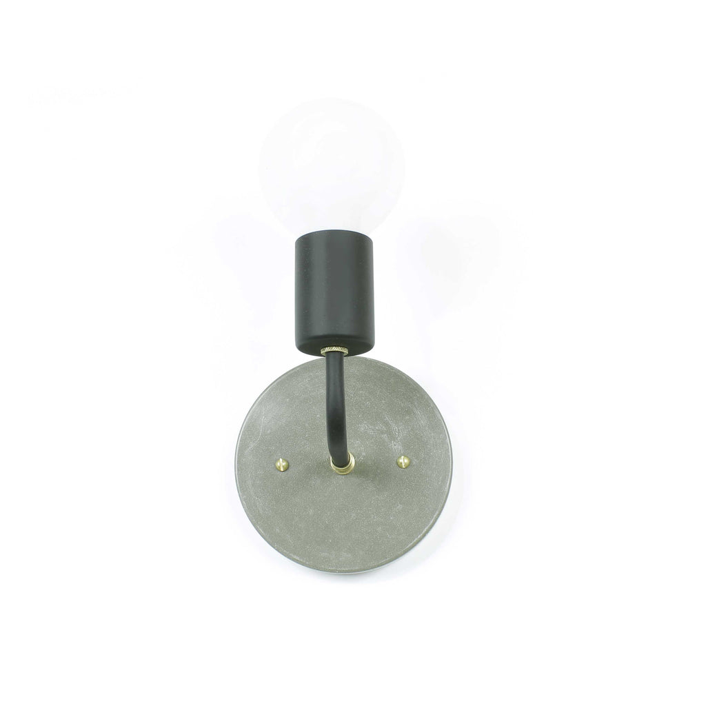 Concrete Single Arm Hardwired Sconce - gdomm