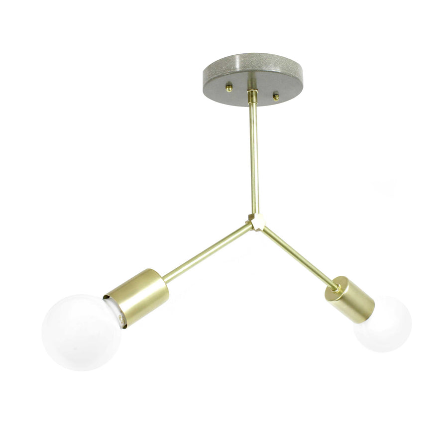 Y-Branch hanging light chandelier ceiling mount - gdomm