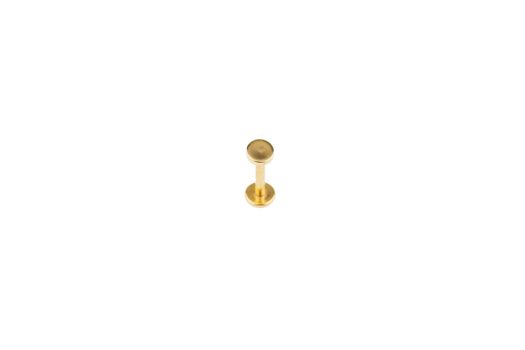 Disc Gold Surgical Steel Barbell