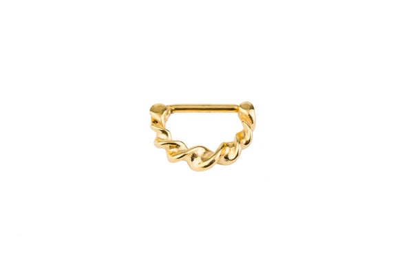 Twisted Gold Surgical Steel Clicker
