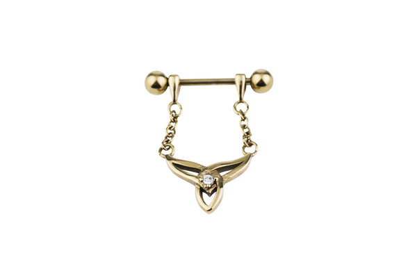 Ceremony Yellow Gold Surgical Steel Barbell