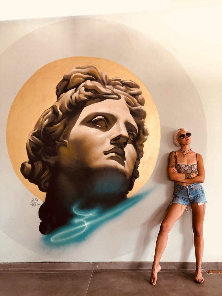 Head of Apollo Mural