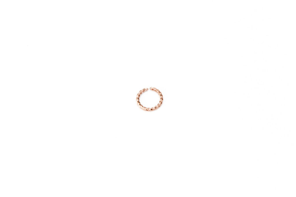 Braided Rosegold Surgical Steel Ring