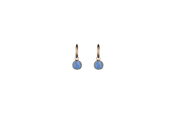Angelite Round Earrings