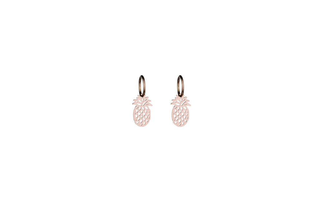 Rosegold Pineapple Earrings