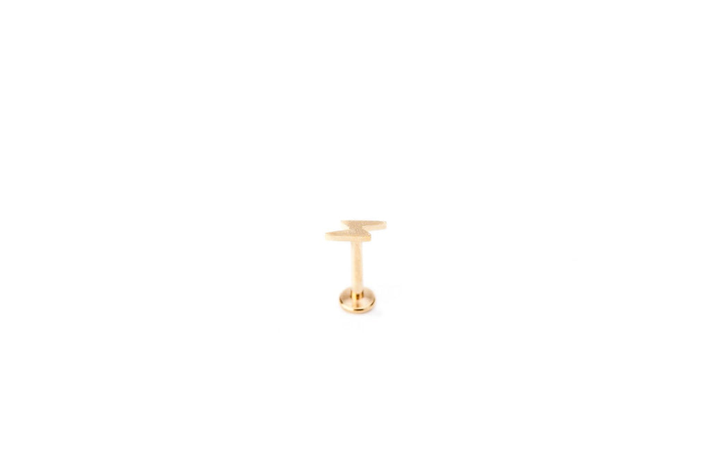 Lightning Gold Surgical Steel Barbell