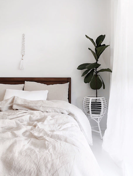 Jem Juthmat and The Cover Collective French Linen Bedding Interview. How to achieve a minimalist bedroom