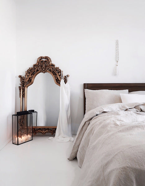 Jem Juthamat & The Cover Collective French Linen Bedding Interview. How to achieve a minimalist bedroom