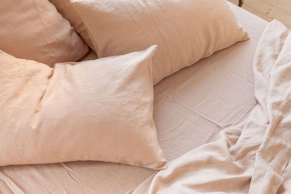 French Linen Euro Pillowcase Set - Peach (Limited Edition)