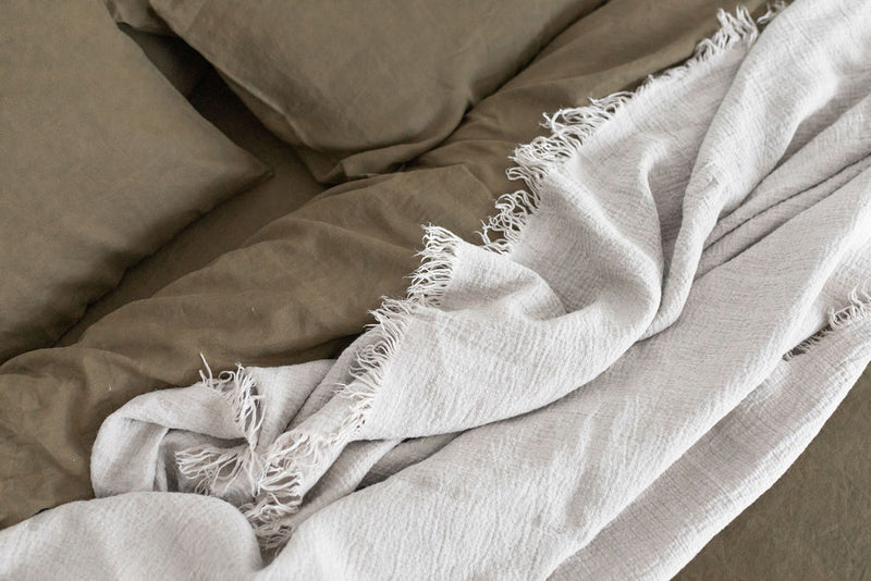 French Linen Standard Pillowcase Set - Olive (Limited Edition)