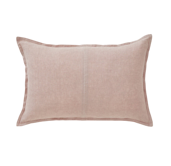 Linen Cushion - Dusty Blush Lumbar