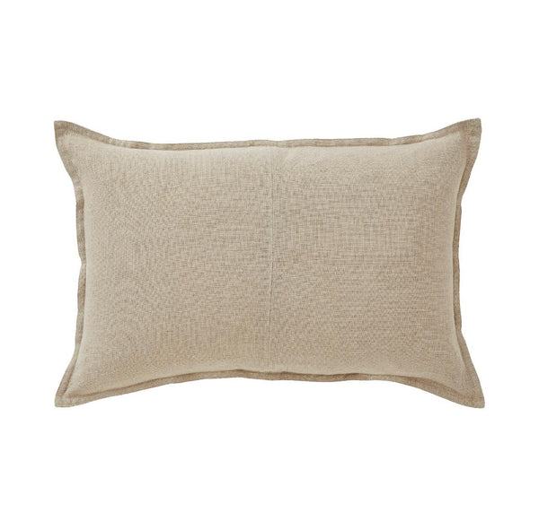 Linen Cushion - Natural Lumbar