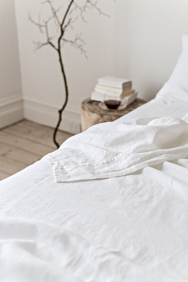 French Linen Flat Sheet - White