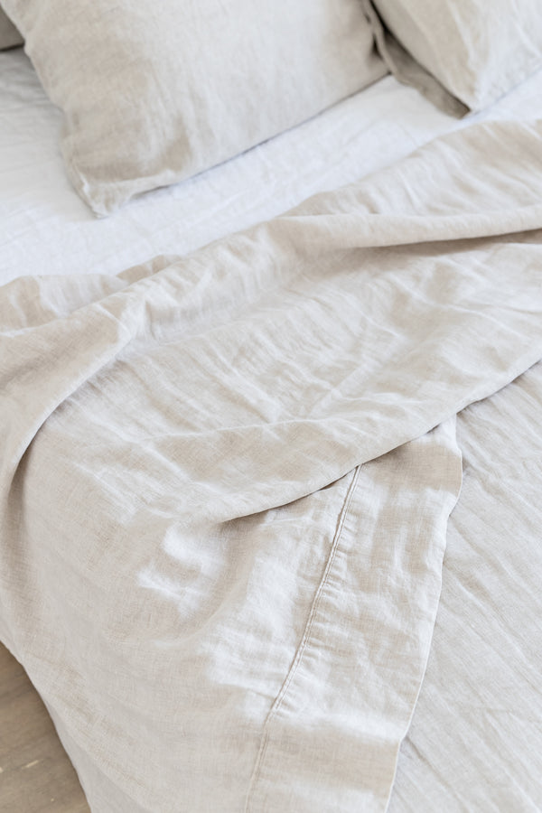 French Linen Flat Sheet - Natural