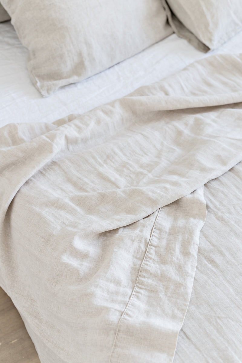 French Linen Sheet Set - Natural