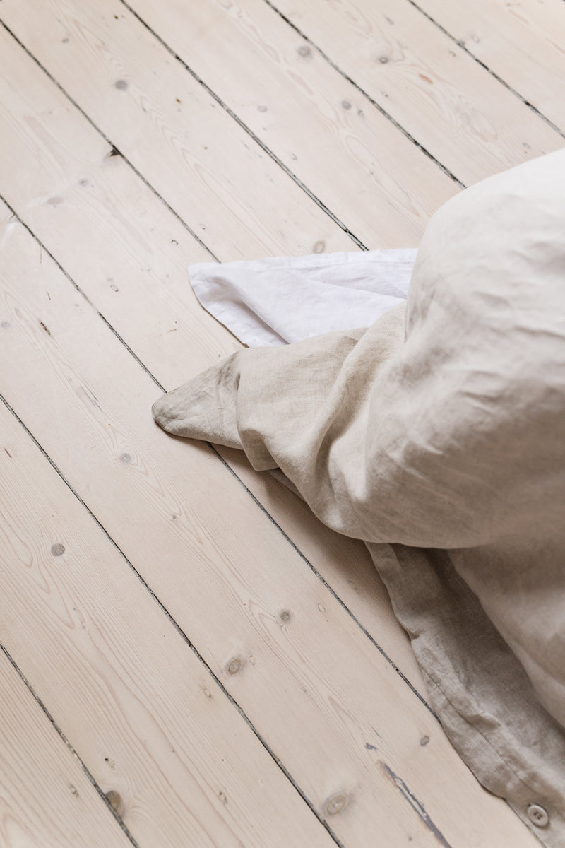 French Linen Quilt Cover - Natural