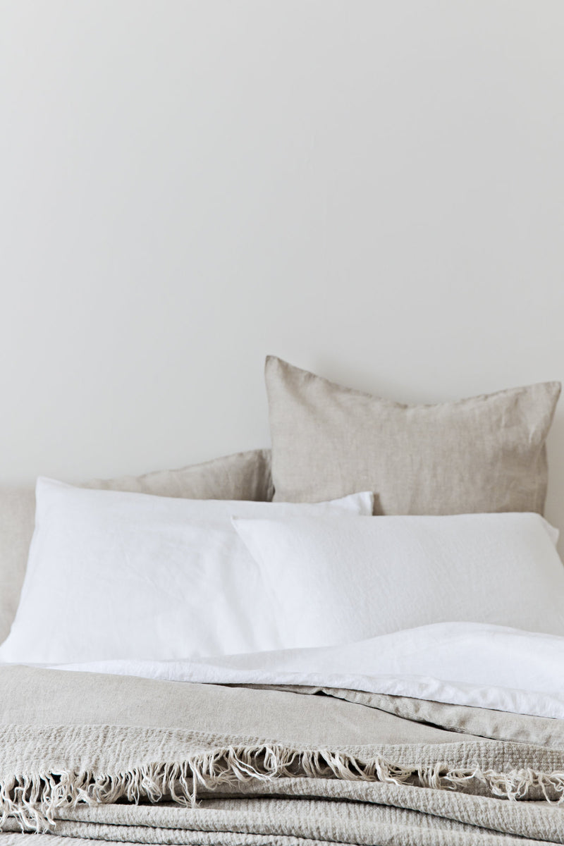 French Linen Euro Pillowcase Set - Natural