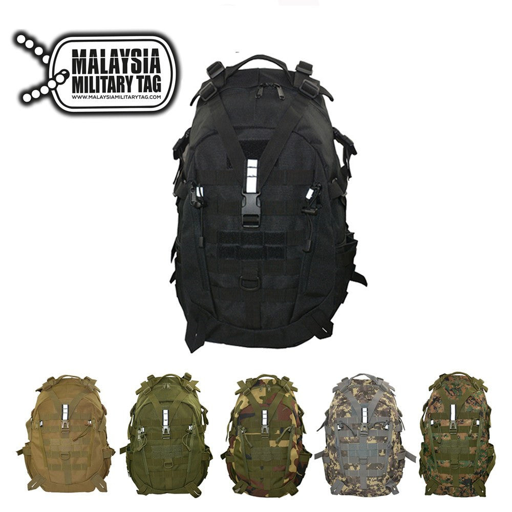 35L Infantry Tactical Military Backpack(Free Shipping in Malaysia) - Black 1796ee1bb3