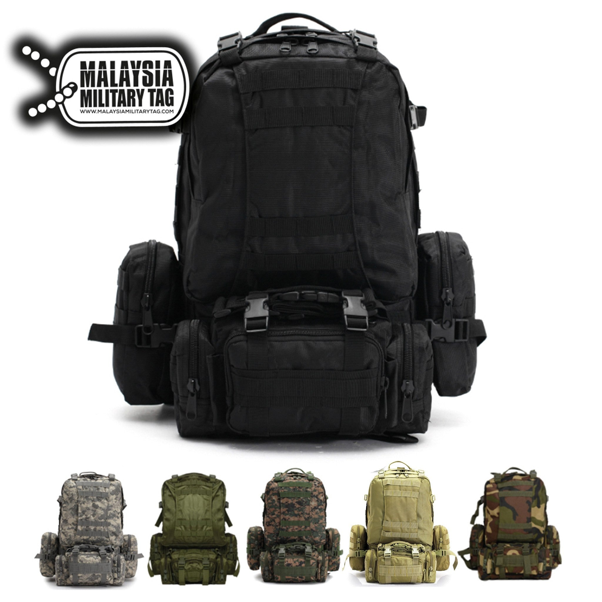55L Tactical Military backpack(Free Shipping in Malaysia) 73bf18f25c