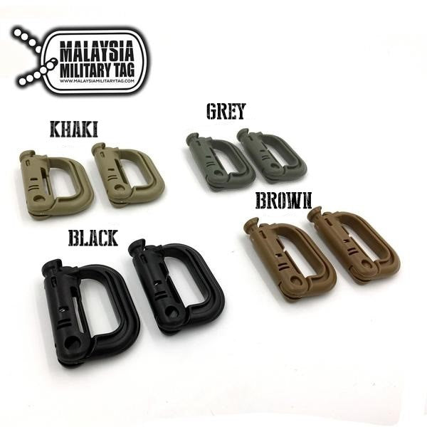 Multipurpose Tactical D-Ring Grimloc Locking for Molle Webbing(Free Shipping in Malaysia)