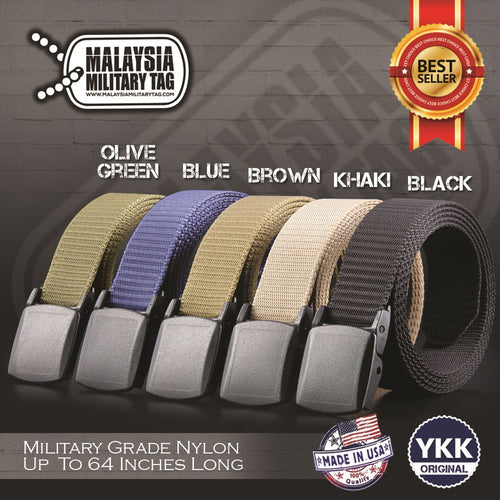 Fast Drying Heavy Duty Plastic Buckle Tactical Military Nylon Belt(Free Shipping in Malaysia)