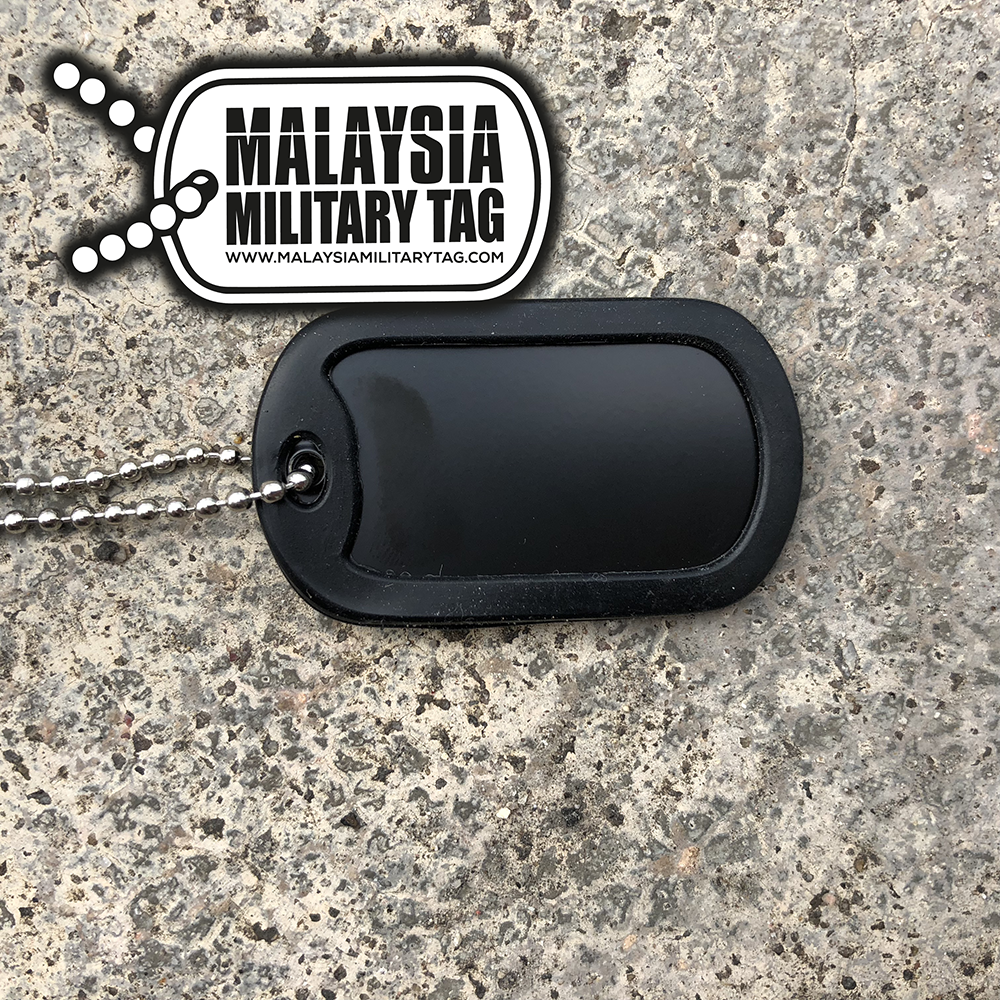 Military spec stainless steel single Black Ops military tag(Free Shipping in Malaysia)