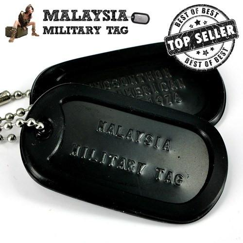 Military spec stainless steel Black ops military tags(Free Shipping in Malaysia)