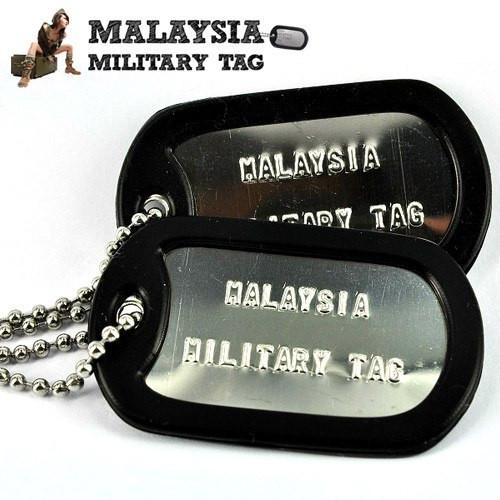 Military spec stainless steel shiny military tags(Free Shipping in Malaysia)