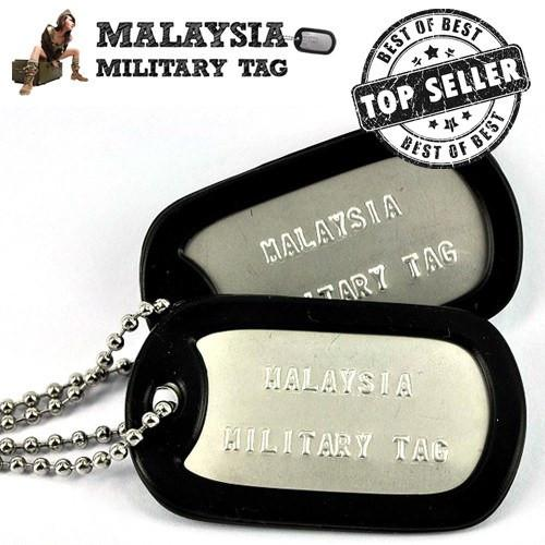 Military spec stainless steel matte military tags(Free Shipping in Malaysia)