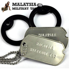 Military spec stainless steel WW2 military tags(Free Shipping in Malaysia)