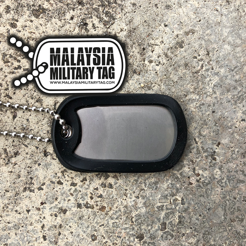 Military spec stainless steel single matte military tag(Free Shipping in Malaysia)