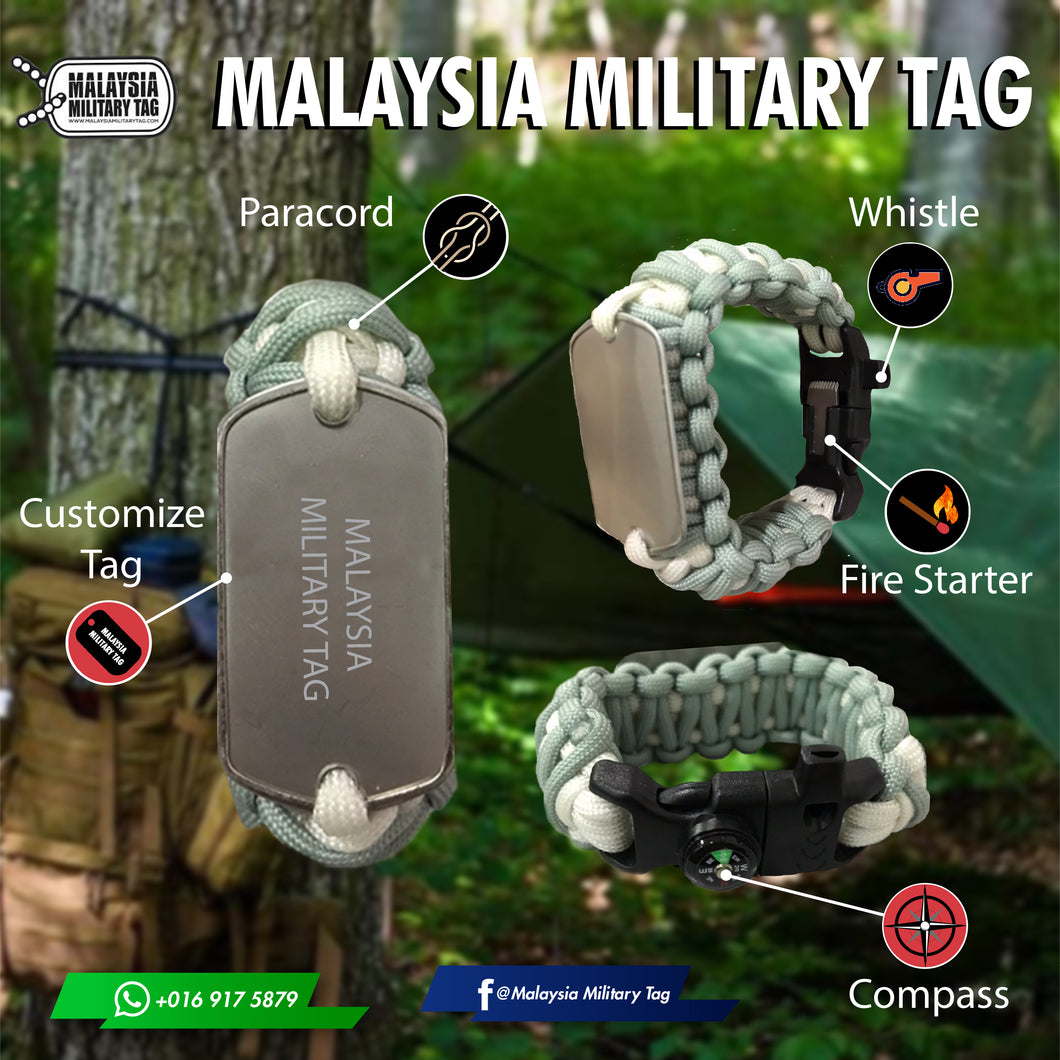 Custom paracord tags(Free Shipping in Malaysia)