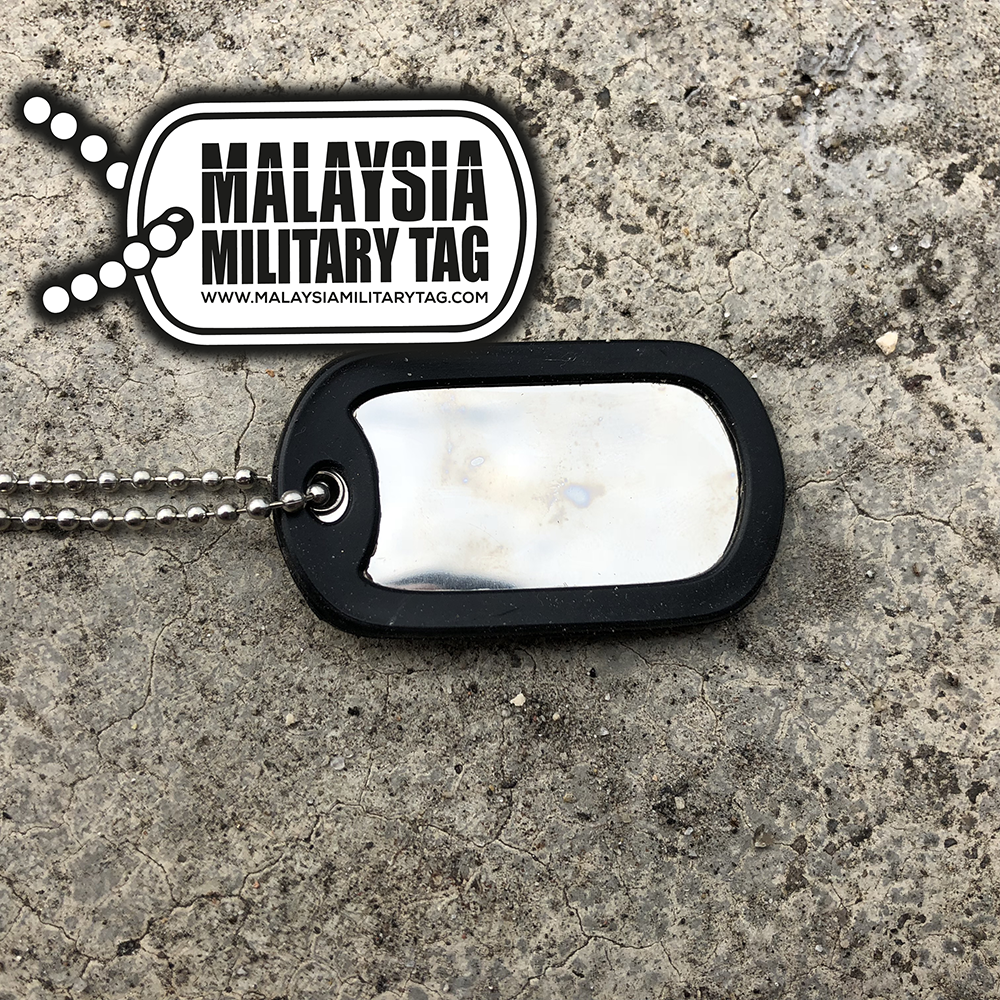 Military spec stainless steel single shiny military tag(Free Shipping in Malaysia)