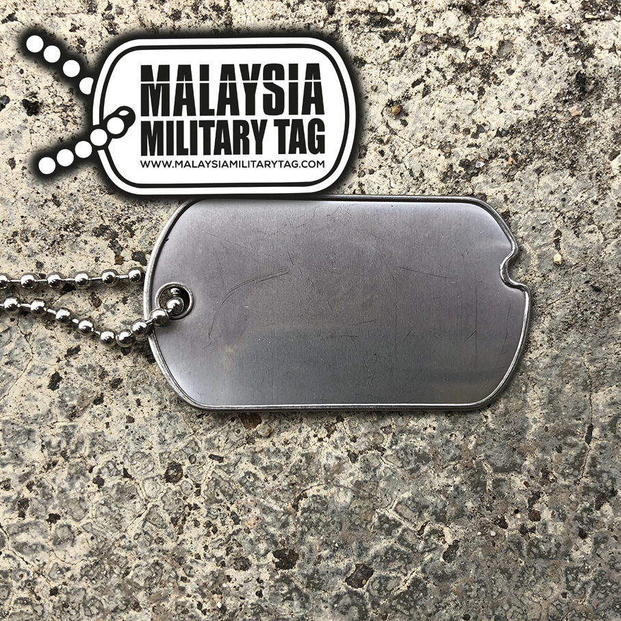 Military spec stainless steel single WW2 military tag(Free Shipping in Malaysia)