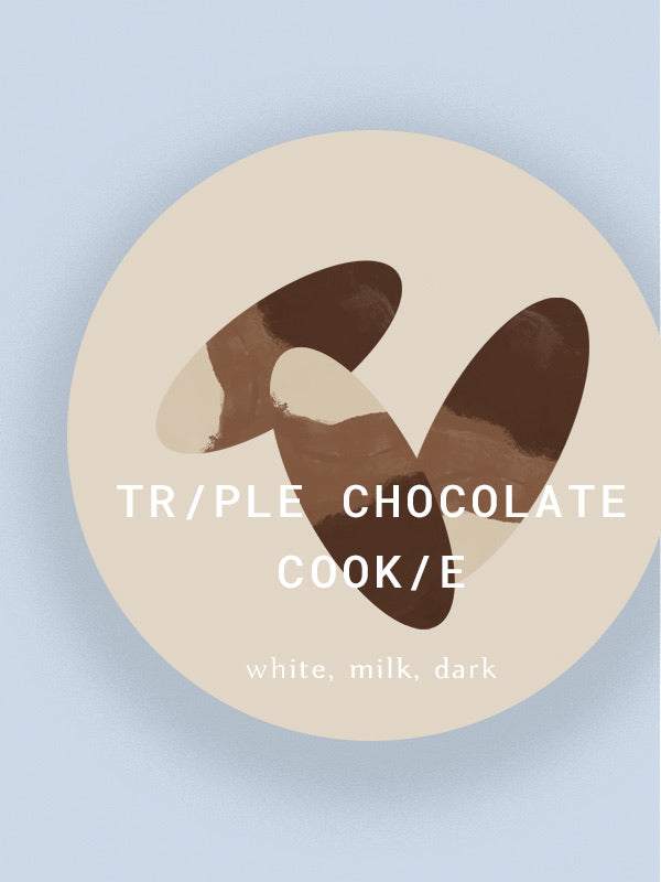 a) Triple chocolate cookies