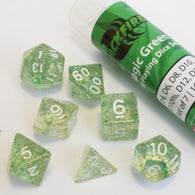 Blackfire Dice - 16mm Role Playing Dice Set - Magic Green (7 Dice)
