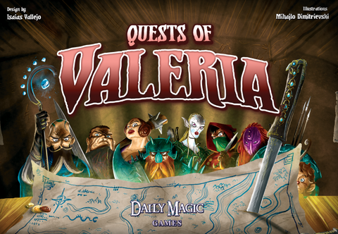 Quests of Valeria - настолна игра